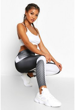 Womens Black Fit Contouring Yoga Leggings