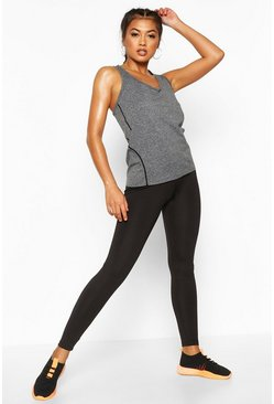 Grey Fit Soft Marled Gym Vest