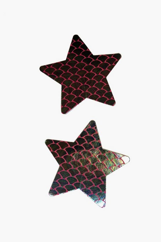 Satin Star Printed Nipple Covers