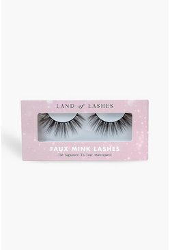 Womens Black Land Of Lashes Faux Mink - Dubai