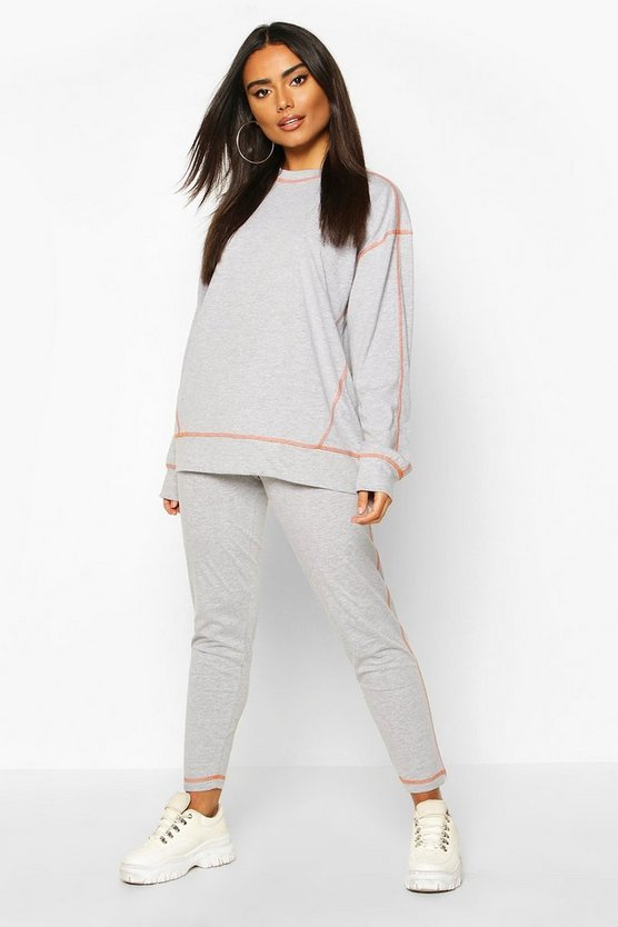 Contrast Stitch T-Shirt And Legging Set