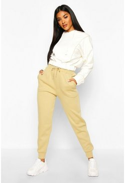 Womens Khaki Tonal Skinny Sweat Jogger