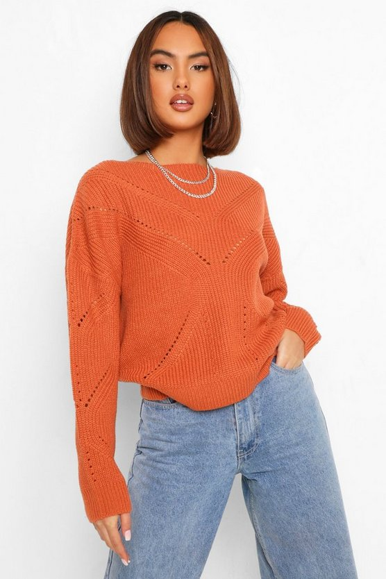 Pointelle Knitted Jumper