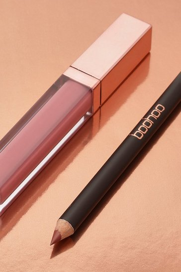 Womens Nude Boohoo Matte Lip Kit