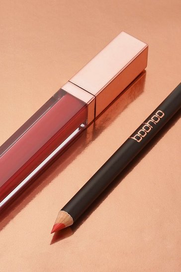 Boohoo Matte Lip Kit - Lady In Red