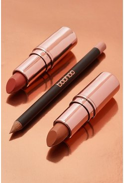 Womens Boohoo Nude Lipstick Collection