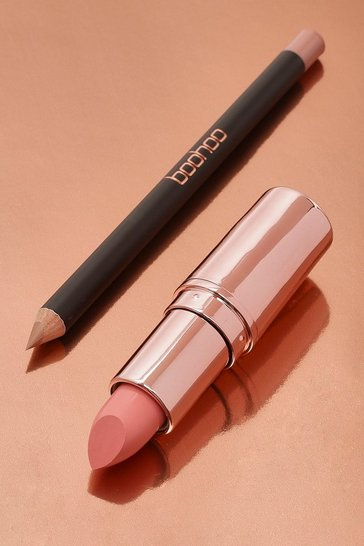Womens Nude Boohoo Lip Kit - Birthday Suit