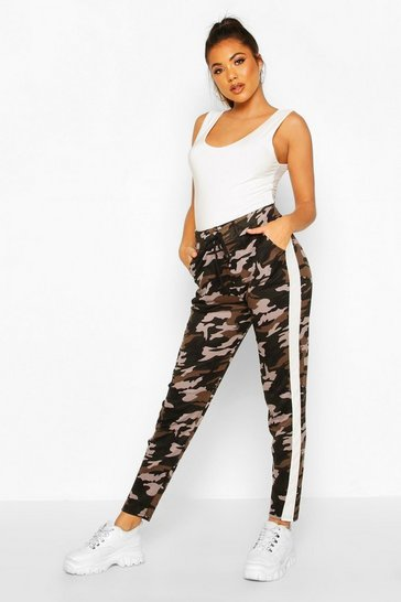 Womens White Camo Legging With Contrast Panel
