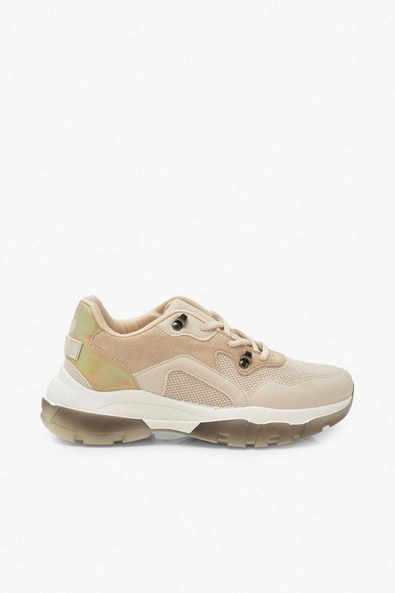 Contrast Sole Chunky Trainers