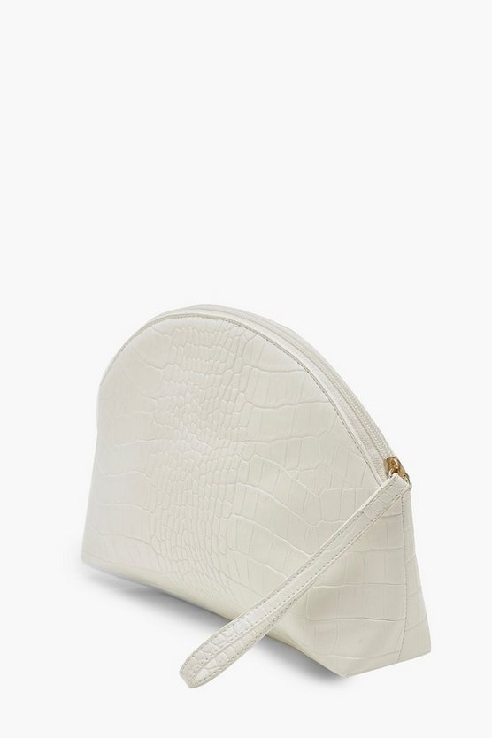 Croc Half Moon Zip Top Pouch & Handle Bag