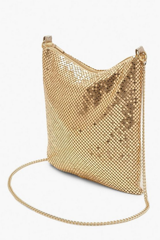 Chainmail Slouchy Cross Body Bag