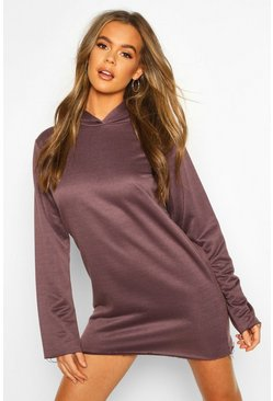Womens Slate Tonal Oversized Hoodie Dress