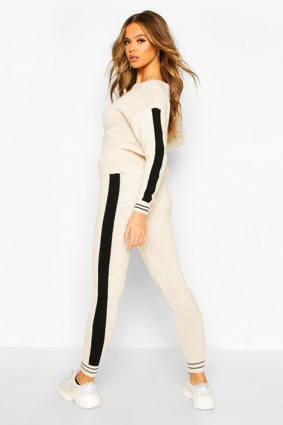 Sport Stripe Knitted Lounge Set