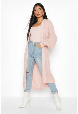 Blush Oversized Balloon Sleeve Cardigan
