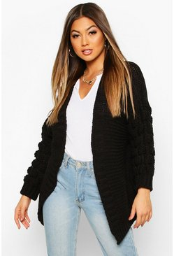 Black Premium Bobble Knit Cardigan