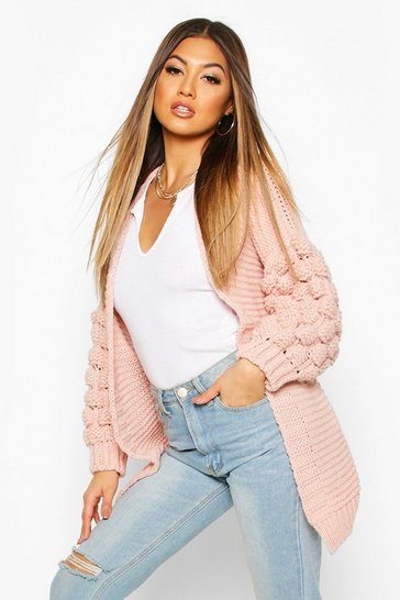 Womens Nude Premium Bobble Knit Cardigan
