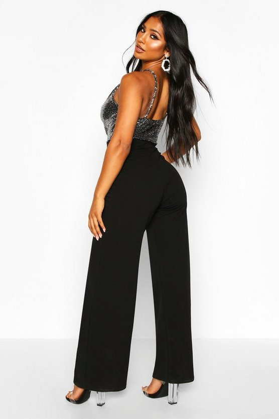 Sparkle Cami Wide Leg Jumpsuit
