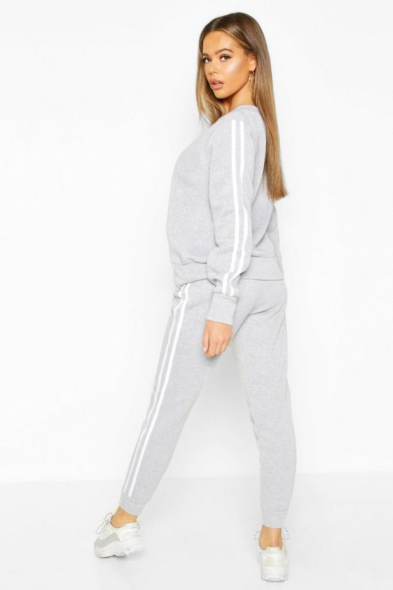 Fleece Side Stripe Tracksuit Set