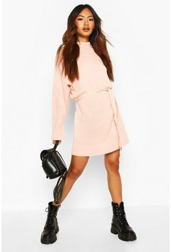 Blush Knitted Belted Dress