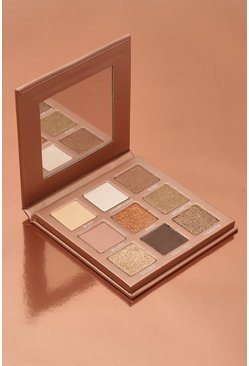 Paleta de sombras de ojos de 9 tonos Boohoo In The Nude, Color carne