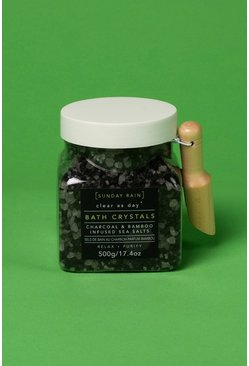 Black Sunday Rain Bath Crystals Charcoal