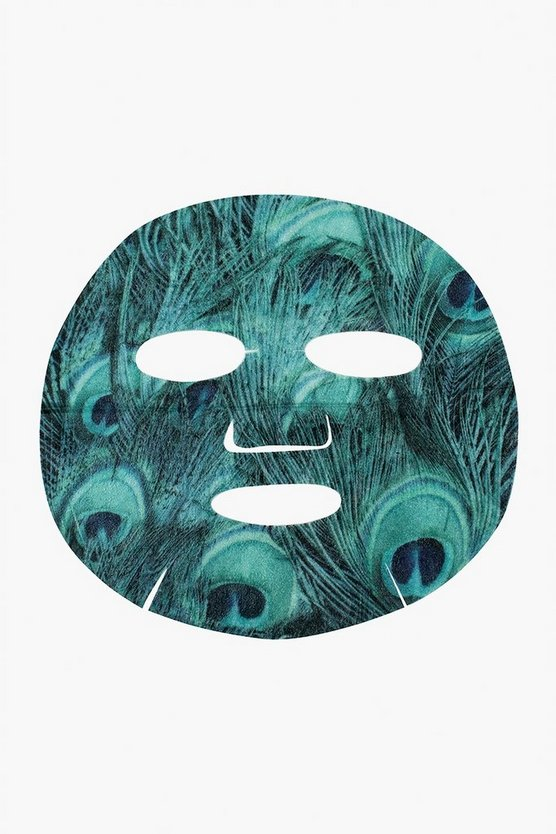 Oh K! SOS Printed Peacock Print Sheet Face Mask
