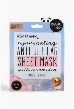 Womens Blue Oh K! Jet Lag Face Mask