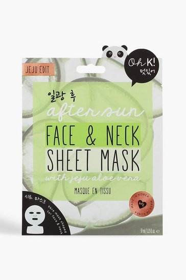 Womens Green Oh K! After Sun Aloe Sheet Face & Neck Mask