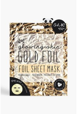 Womens Oh K! Gold Foil Sheet Face Mask