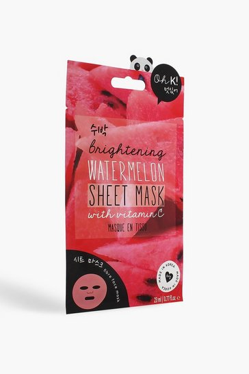 Womens Red Oh K! Vitamin C Watermelon Sheet Face Mask