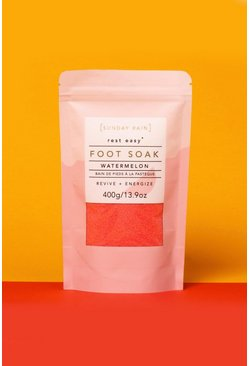 Womens Pink Sunday Rain Foot Soak Watermelon