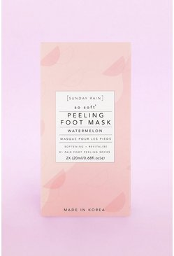 Pink Sunday Rain Foot Mask Watermelon