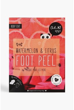 Womens Oh K! Watermelon Pink Foot Peel
