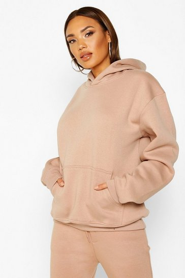 Womens Dusky pink Oversized Heavyweight Hoodie