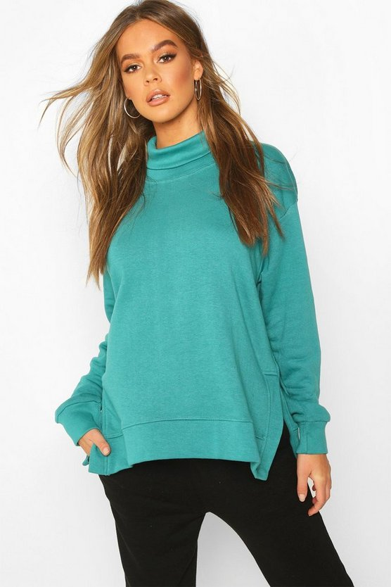 Roll Neck Oversized Sweat Top