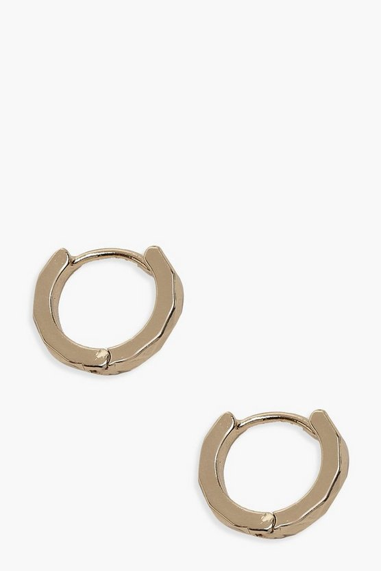 Plain Huggie Hoop Earrings