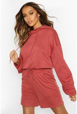 Womens Rose Oversized Lounge Hoodie