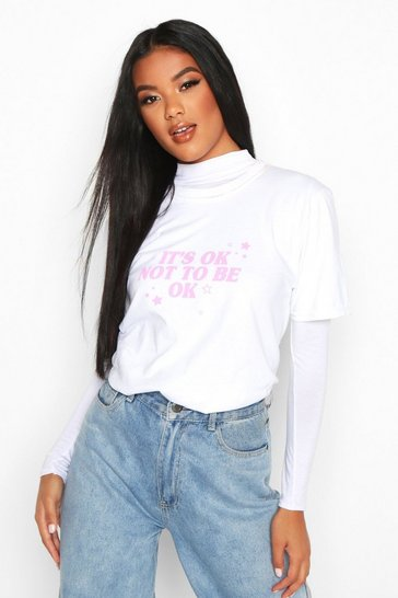 White It's Ok Not To Be Ok T-Shirt