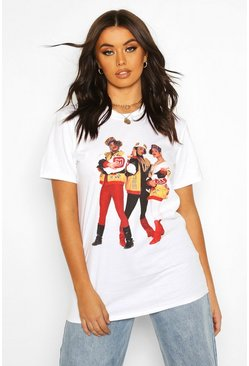 Womens White Salt + Pepa Licenced Tee