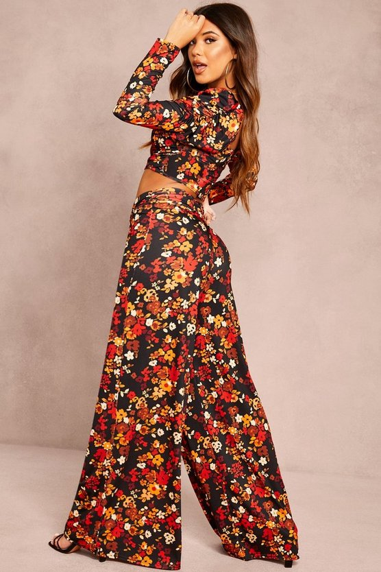 Recycled Floral Print Top & Trouser Co-ord