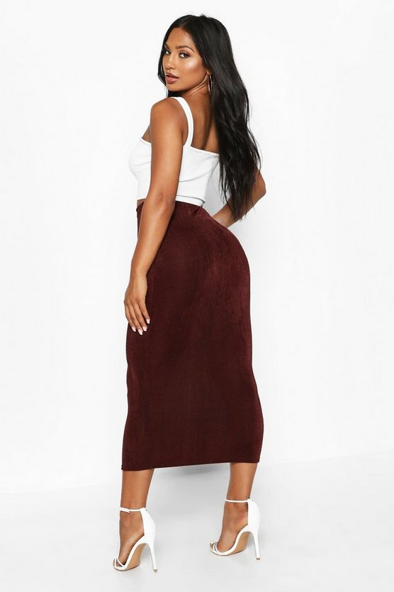 Textured Midaxi Skirt