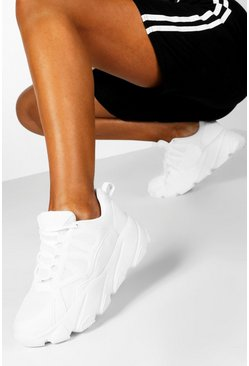 Dam White Chunky Sole Trainers