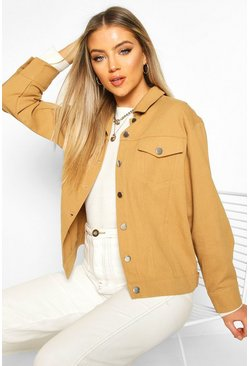 Tan Oversized Utility Jacket