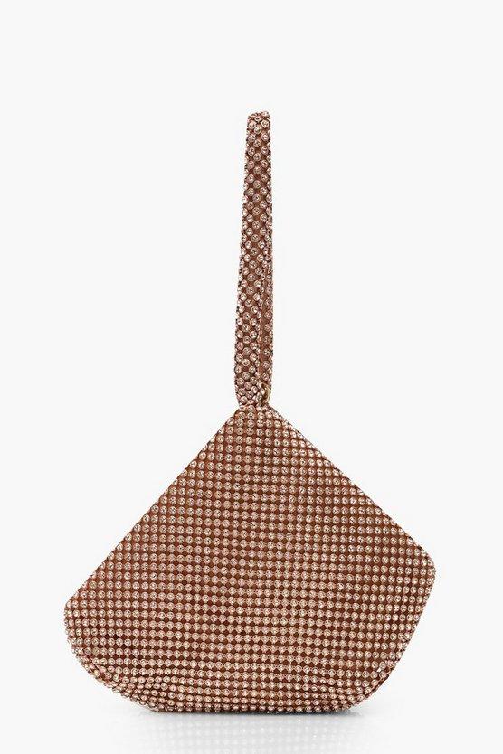 Diamante Pouch Clutch Bag