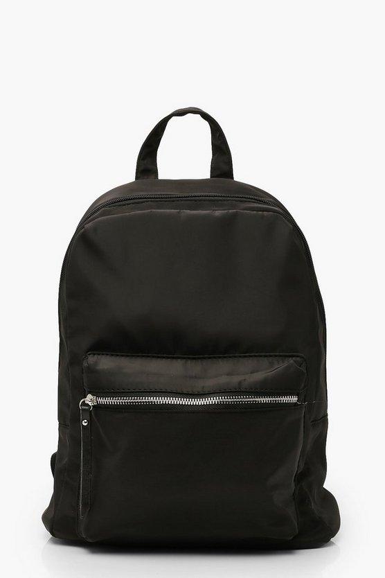 Nylon Zip Front Pocket Rucksack