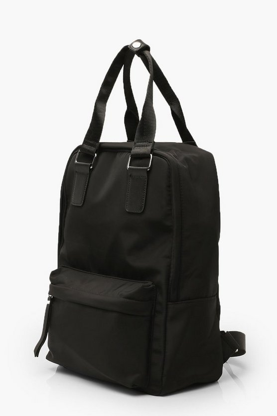 Nylon Rucksack With Top Handle