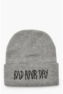Bonnets Bad Hair Day, Gris, Femme