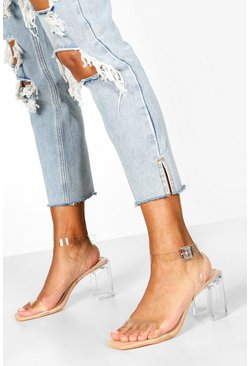 Dam Nude Interest Clear Heel 2 Parts