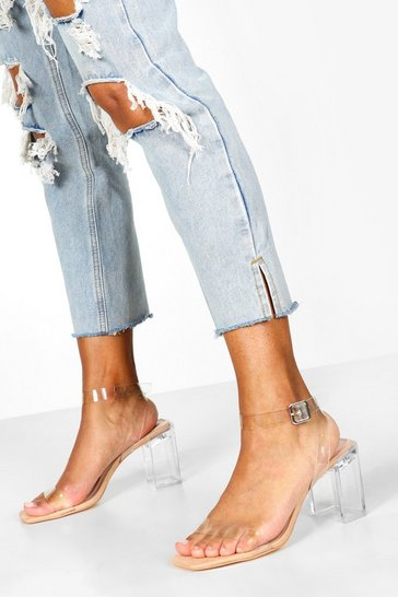 Nude Interest Clear Heel 2 Parts