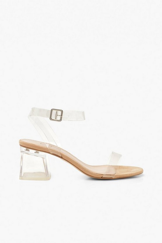 Low Clear Block Heel 2 Parts